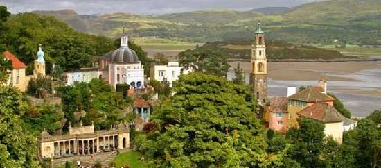 Portmeririon, North Wales filming locations