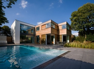 Looking for a space to shoot outside in london swimming for Pool house design uk