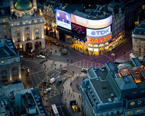 london picadilly circus filming location