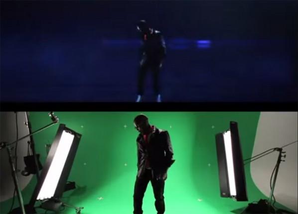 Shooting a music video