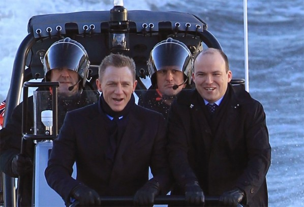 On Location with the New Bond Film in London