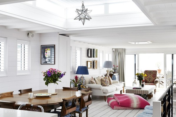 Stunning Houseboat Interior on the River Thames