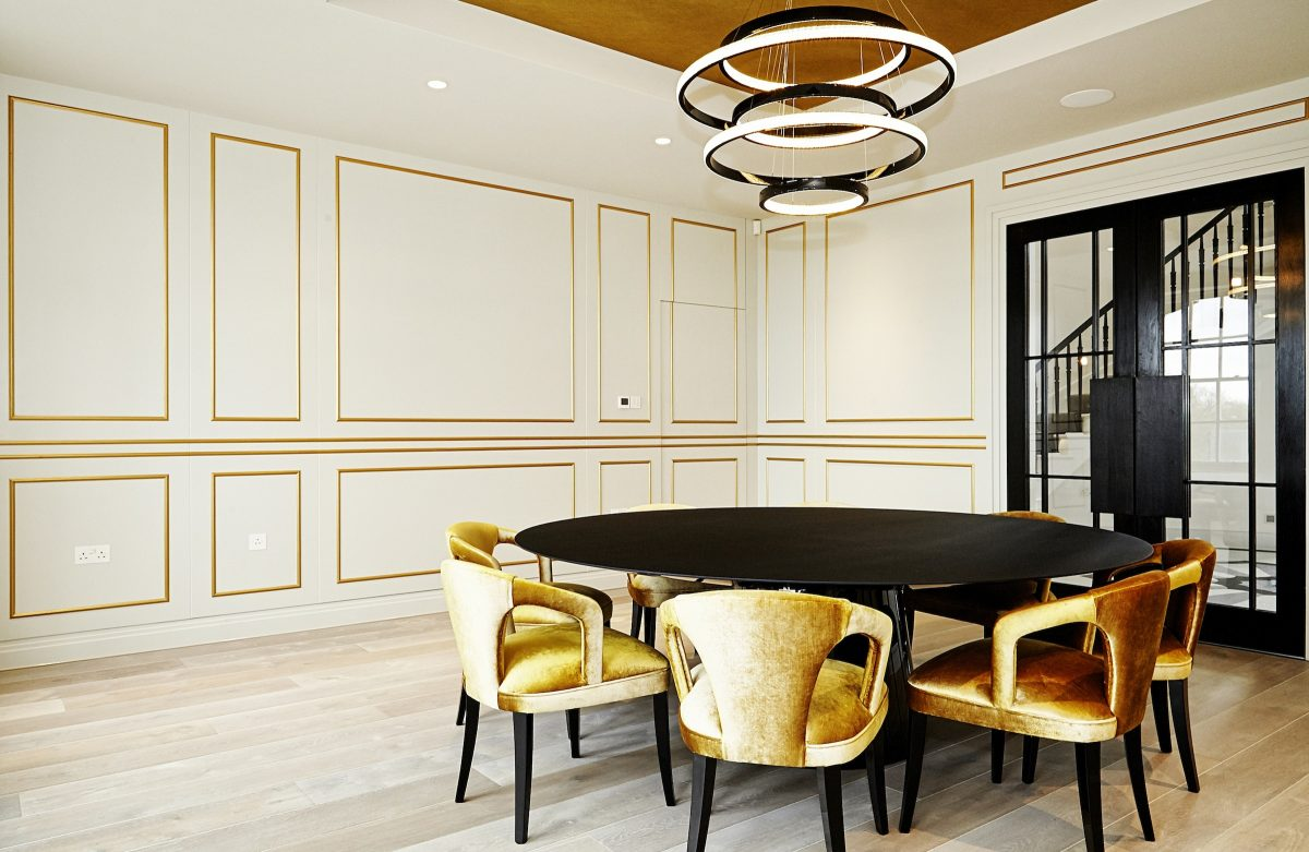 Broadway NW7 - gold dining chairs - london houses - shootfactory location