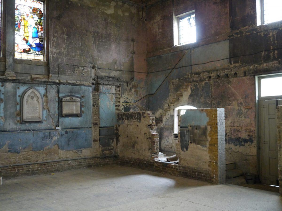 Chapel SE15 - concrete floor - quirky - shootfactory location