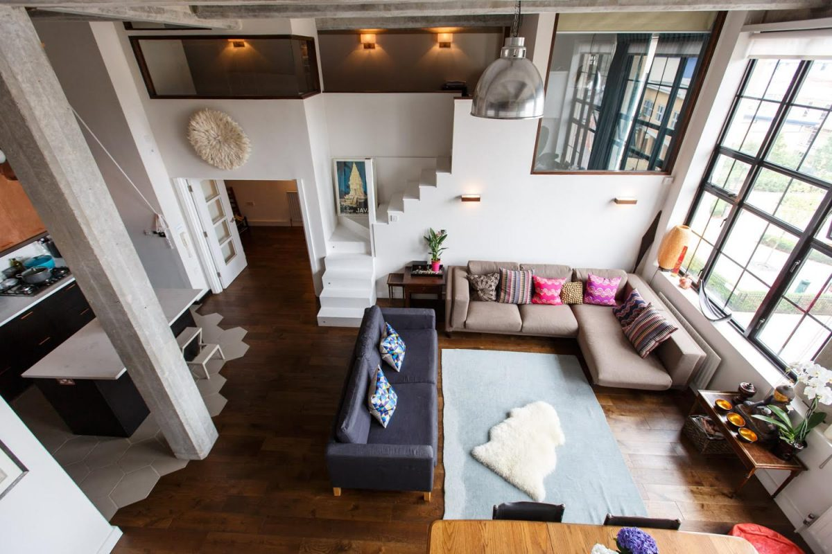 Beautiful Clapton Loft E5   Arial View Of Lounge   London Apartments   Shootfactory  Location