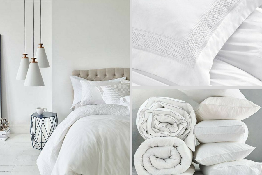 Marks and Spencer bed linen photo shoot
