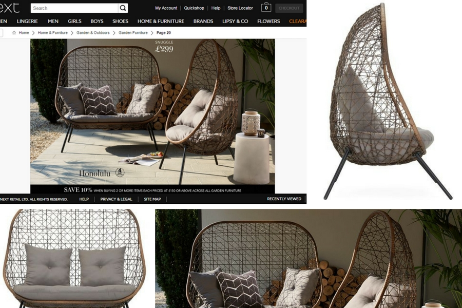 Next Garden Furniture Photo Shoot for the Honolulu Snuggle