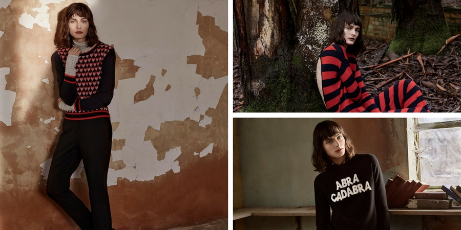 Recent photo shoot by Chinti and Parker for their Autumn Winter Lookbook