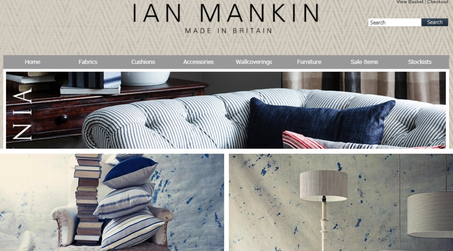 Designer Fabric Photo Shoot for Ian Mankin