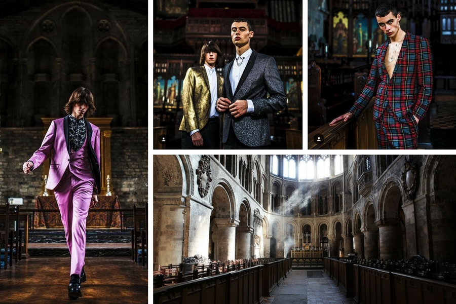 Fashion Photo Shoot with Noose & Monkey in Medieval Church - Shootfactory
