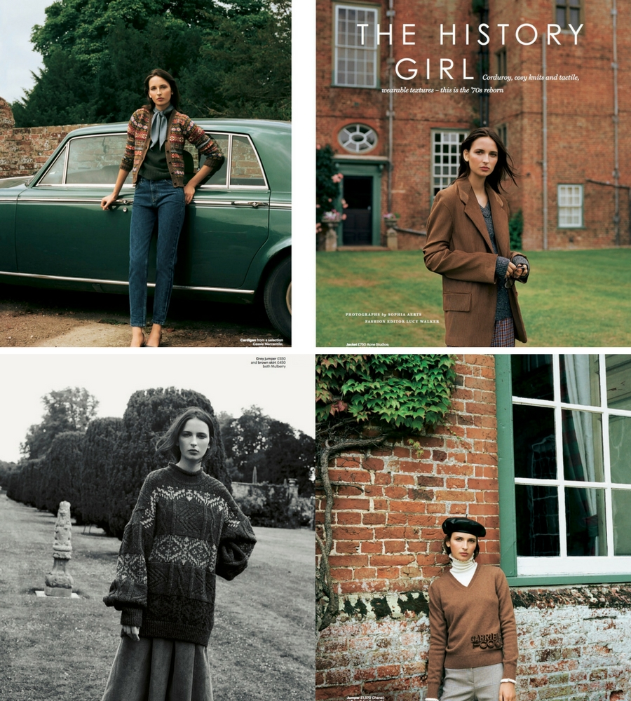 The History Girl fashion photo shoot for Glamour Magazine - Shootfactory