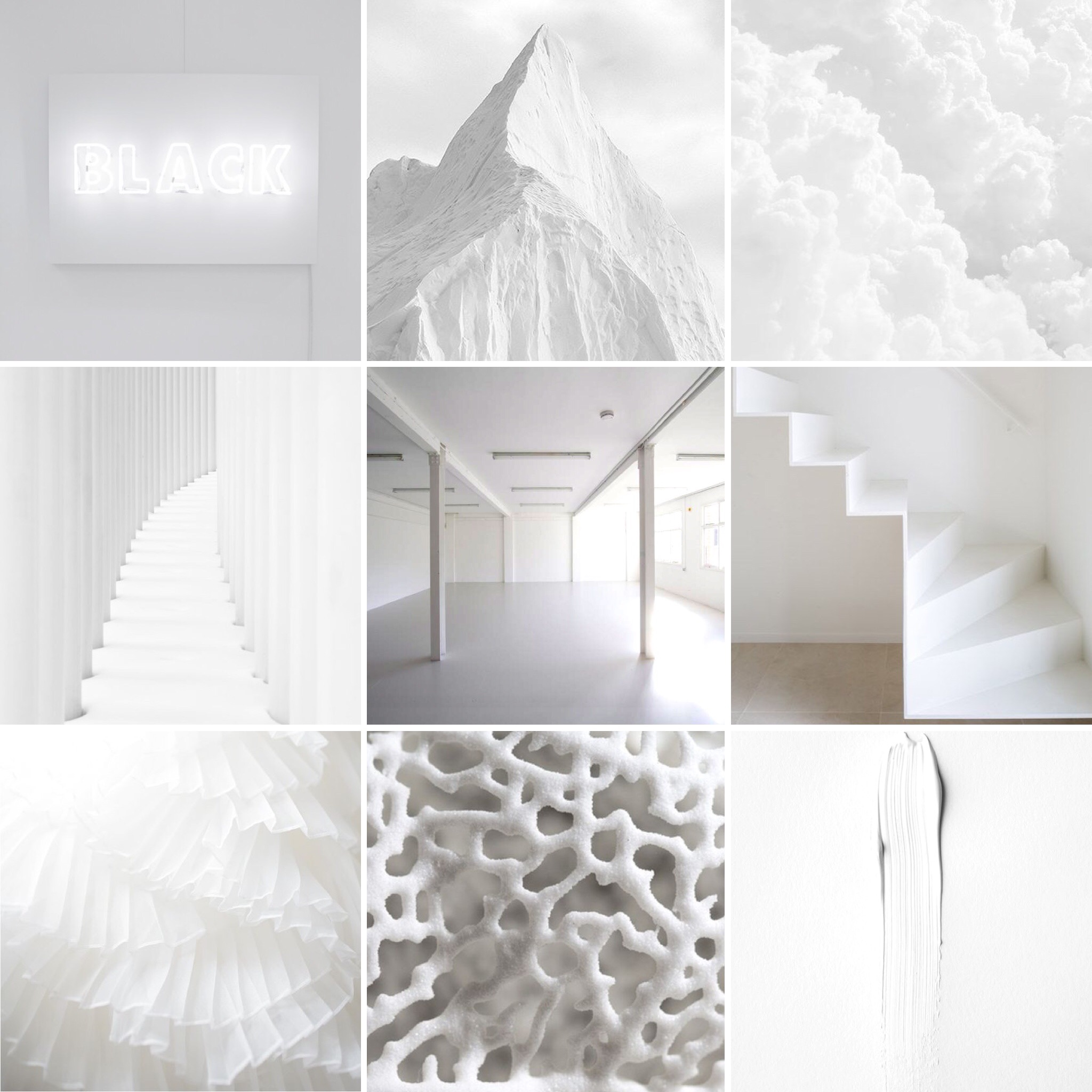 WHITE IS THE NEW BLACK.
