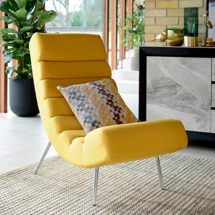 Dwell interiors lifestyle shoot featuring the mustard ripple lounger - Shootfactory