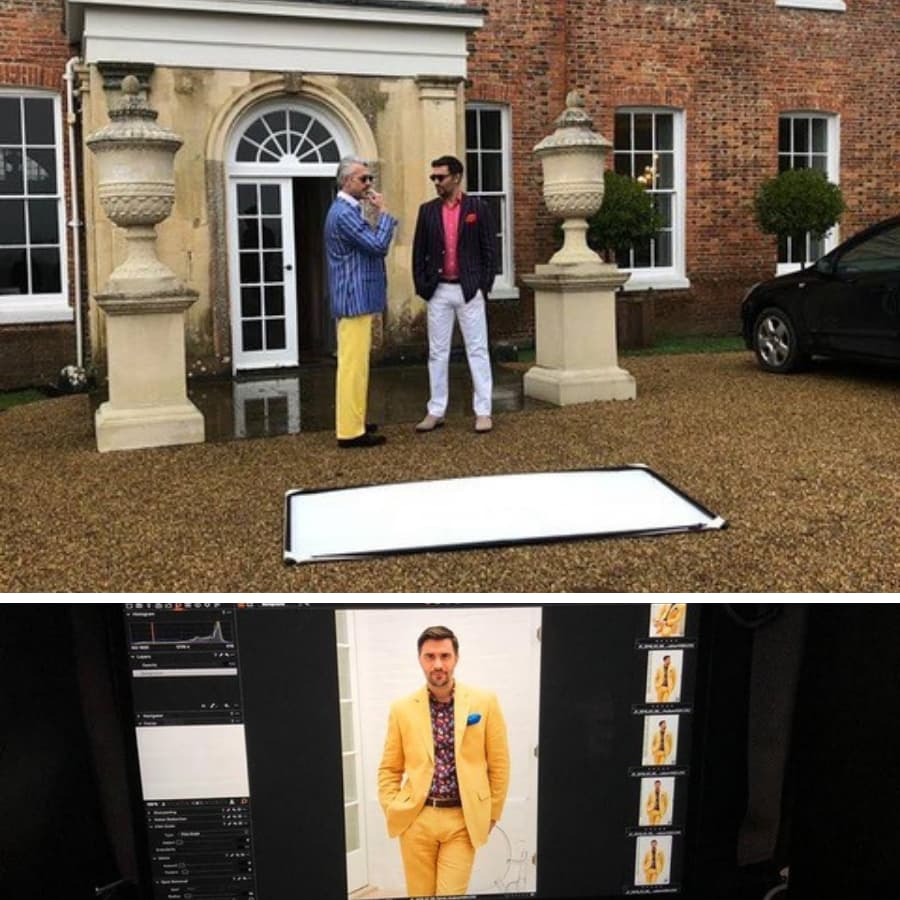 Harvie & Hudson Behind The Scenes at Fashion Shoot - Shootfactory