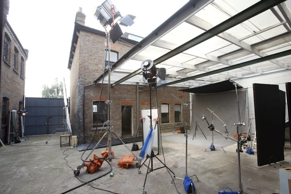 Courtyard with cameras / Kensal Daylight, London, Nw10 / Shootfactory Location